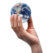World in a hand — Stock Photo