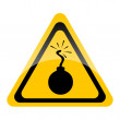 Bomb warning sign — Stock Photo