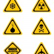 Stock Photo: Set triangular warning signs