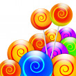 Colorful lollipops illustration — Stock Photo