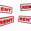 Illustration of rent signs — Stock Photo