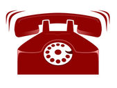 Illustration of retro red phone — Stock Photo