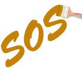 Sos-pinsel — Stockfoto