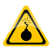 Bomb warning sign — Stockfoto