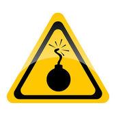 Bomb warning sign — Stock Photo
