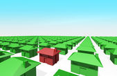 Homes in 3D — Stock Photo