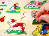Jigsaw puzzle — Stock Photo