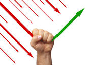Graphic stylized fist — Stock Photo