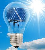 лампа с фотоэлектрические — Стоковое фото