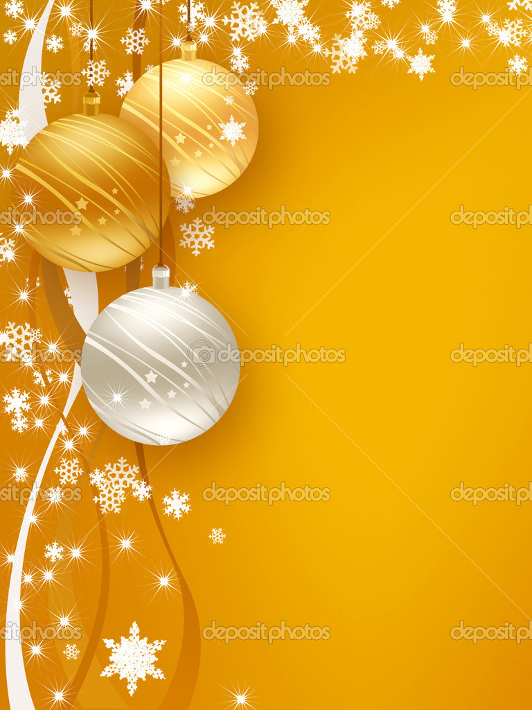 Background of Christmas, and snow balls — Stock Photo #6740253
