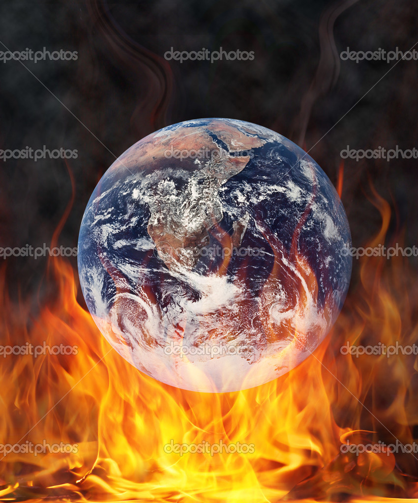 The world over the fire burns — Stock Photo #6744231