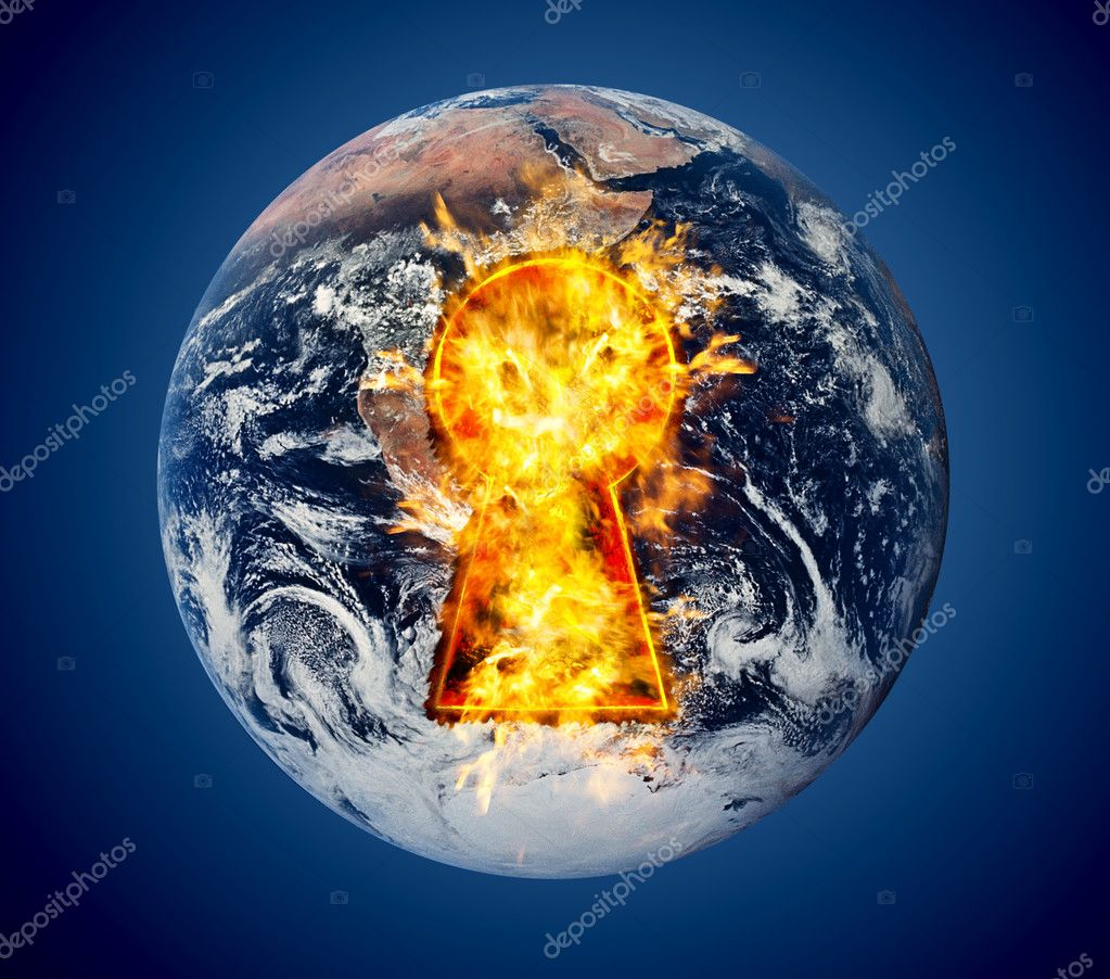 The world burns with fire — Stock Photo #6744282