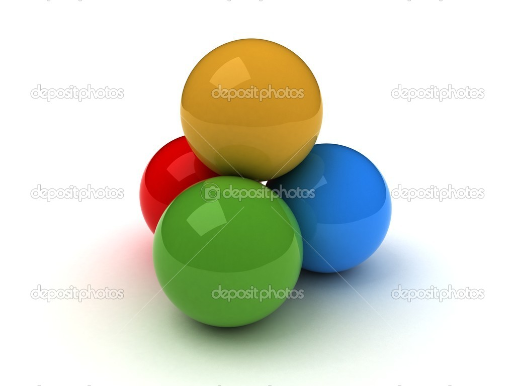 The colors in the three-dimensional spheres — Stock Photo #6745757