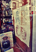 Show-window in art shop — Stock Photo