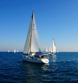 Sailing yacht in the mediterranean sea. — Stock Photo