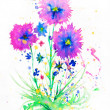 Watercolor flowers — Stock Photo #6169608