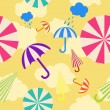 Stock Vector: Seamless umbrella background