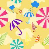 Seamless umbrella background — Stock Vector