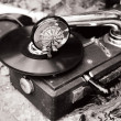 Stock Photo: Old record player