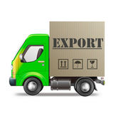 Export delivery truck — Stock Photo