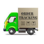Online order tracking — Stock Photo