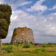 Nuraghe tower sardinia Italy - Stock Photo