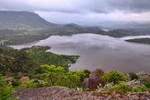 Fresh water lake landscape irrigation reservoir — Stock Photo