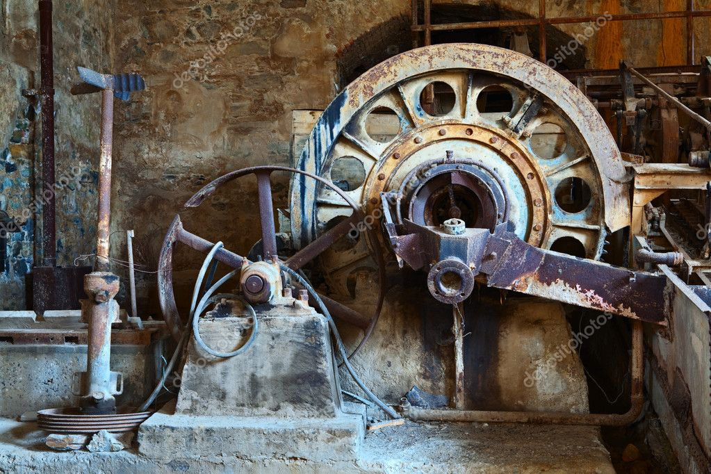 Old rusty vintage industrial machinery — Stock Photo ...  Old rusty vinta...