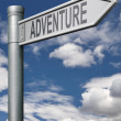 Stock Photo: Adventure road sign
