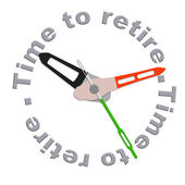 Time to retire — Foto de Stock