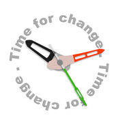 Time to change — 图库照片