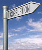 Road to corruption — Stock Photo