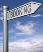 Online booking — Stock Photo