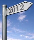 2012 next year road sign — Stock Photo