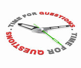Time for questions — Stock Photo