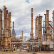 Oil refinery petrochemical industry - Stock Photo