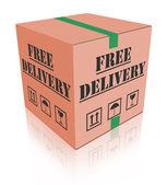 Fri leverans svanmärkt låda packe — Stockfoto