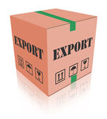 Export shipping carboard box package — Stock Photo