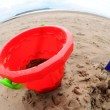 Big bucket and spade — Stock Photo