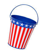 Patriotic Pail — Stock Photo