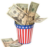 Uncle Sam's Collection Pail — Stock Photo
