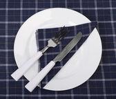 Tableware on a napkin — Stock Photo
