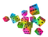 Color dices — Foto Stock