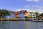 Colored Houses on the island of Burano in Venice — Stock Photo