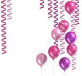 3d purple ballons — Stock Photo