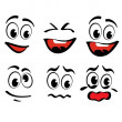 Stock Vector: Cartoon faces