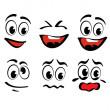 Cartoon faces — Stock Vector