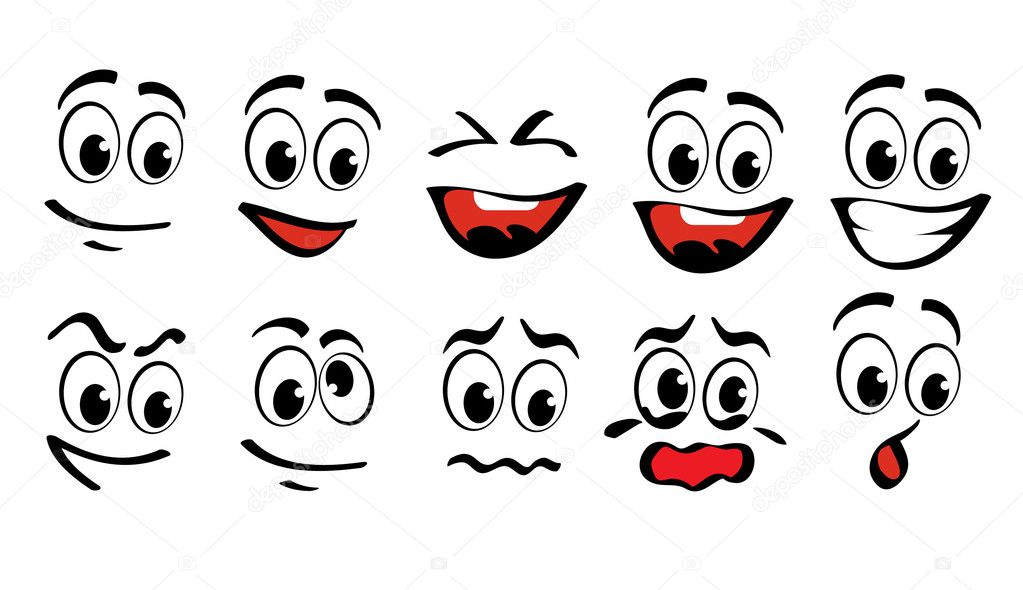 Cartoon faces  for humor or comics design — Stock Vector #6018052