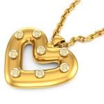 Heart-shaped pendant with diamonds — Stock Photo #6556394