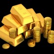 ������, ������: 3d gold bars and coins